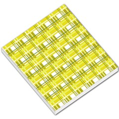 Yellow Plaid Pattern Small Memo Pads by Valentinaart