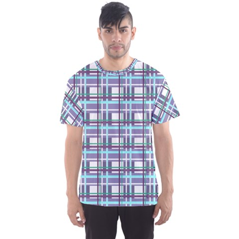 Decorative Plaid Pattern Men s Sport Mesh Tee by Valentinaart