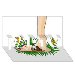 Barefoot In The Grass Party 3d Greeting Card (8x4) by Valentinaart
