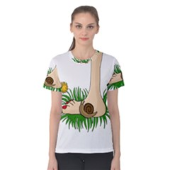 Barefoot In The Grass Women s Cotton Tee by Valentinaart