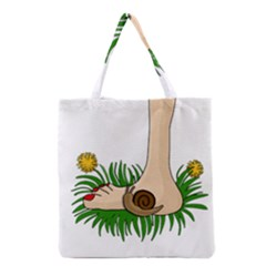 Barefoot In The Grass Grocery Tote Bag by Valentinaart