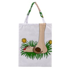 Barefoot In The Grass Classic Tote Bag by Valentinaart