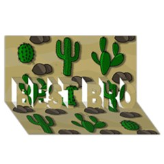 Cactuses Best Bro 3d Greeting Card (8x4) by Valentinaart