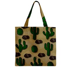 Cactuses Zipper Grocery Tote Bag