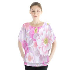Cute Pink Flower Pattern  Blouse by Brittlevirginclothing