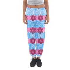 Pink Snowflakes Pattern Women s Jogger Sweatpants by Brittlevirginclothing