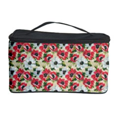 Gorgeous Red Flower Pattern  Cosmetic Storage Case by Brittlevirginclothing
