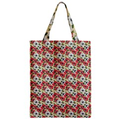 Gorgeous Red Flower Pattern  Zipper Classic Tote Bag by Brittlevirginclothing