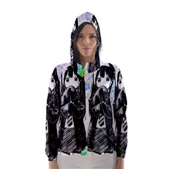 Shy Anime Girl Hooded Wind Breaker (women) by Brittlevirginclothing