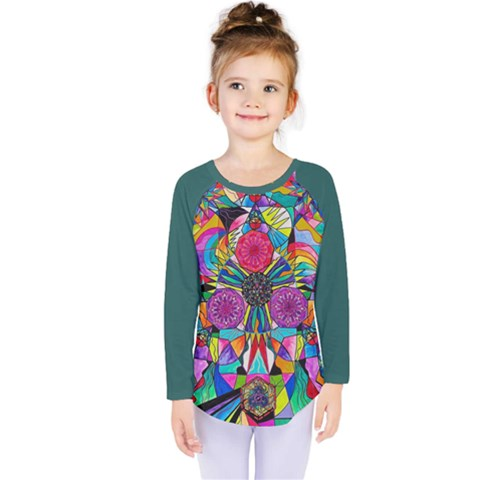 Positive Intention - Kids  Long Sleeve Tee by tealswan