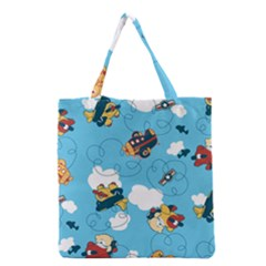 Bear Aircraft Grocery Tote Bag by AnjaniArt