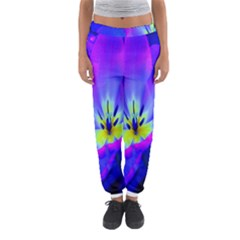 Blue And Purple Flowers Women s Jogger Sweatpants