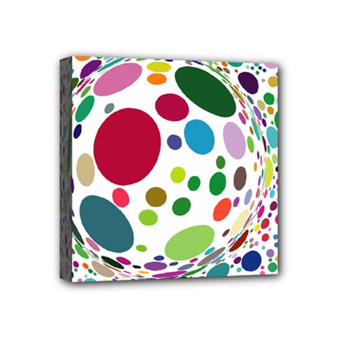 Color Balls Mini Canvas 4  X 4  by AnjaniArt