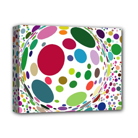 Color Balls Deluxe Canvas 14  X 11  by AnjaniArt