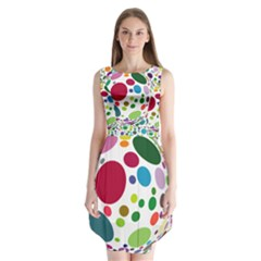 Color Balls Sleeveless Chiffon Dress
