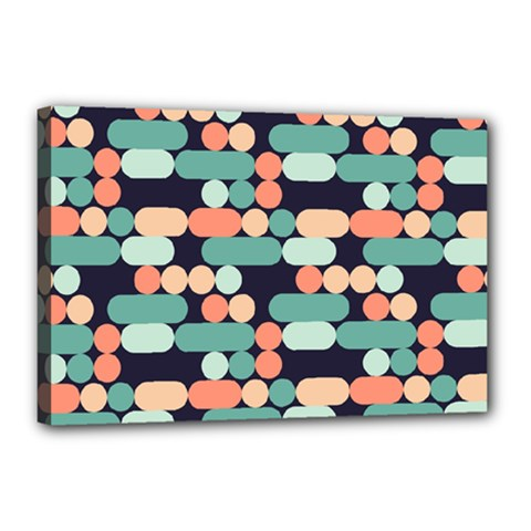 Coral Mint Color Style Canvas 18  X 12  by AnjaniArt