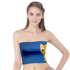 Cute Cat Tube Top