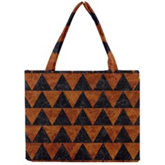 Triangle2 Black Marble & Brown Marble Mini Tote Bag by trendistuff