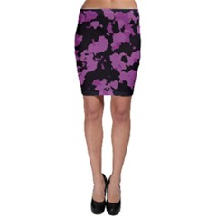 Pink Camouflage Bodycon Skirts