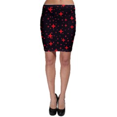 Bright Red Stars In Space Bodycon Skirt by Costasonlineshop