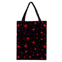 Bright Red Stars In Space Classic Tote Bag by Costasonlineshop