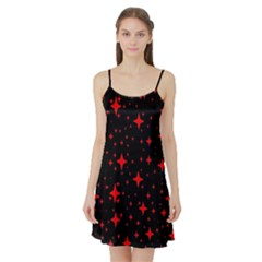 Bright Red Stars In Space Satin Night Slip by Costasonlineshop