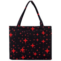 Bright Red Stars In Space Mini Tote Bag by Costasonlineshop