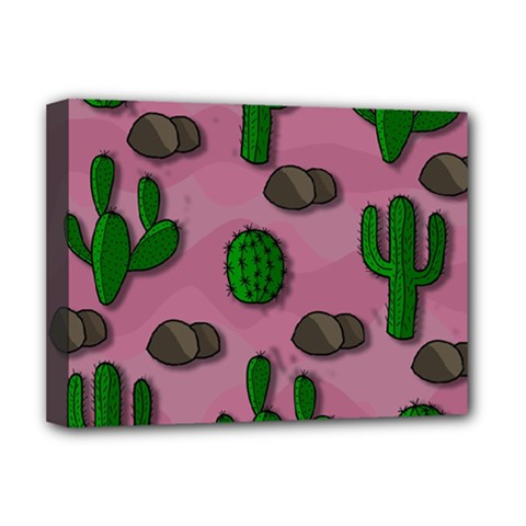 Cactuses 2 Deluxe Canvas 16  X 12   by Valentinaart