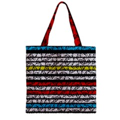 Simple Colorful Design Zipper Grocery Tote Bag by Valentinaart