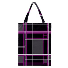 Simple Magenta Lines Classic Tote Bag by Valentinaart
