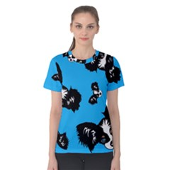 Cute Face Dog Funny Detective Women s Cotton Tee