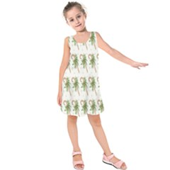 Candy Cane Printable Kids  Sleeveless Dress