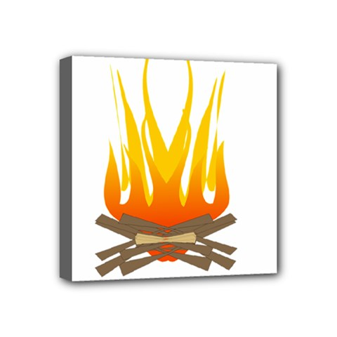 Fire Mini Canvas 4  X 4  by AnjaniArt