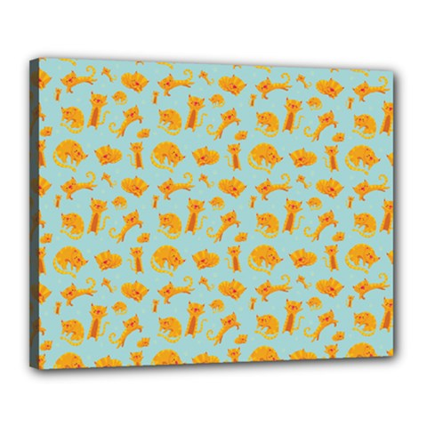 Cute Cat Animals Orange Canvas 20  X 16