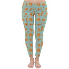 Cute Cat Animals Orange Classic Winter Leggings