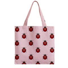 Insect Animals Cute Grocery Tote Bag by AnjaniArt