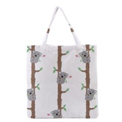 Koala Pattern Grocery Tote Bag by AnjaniArt