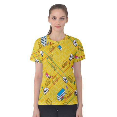 Highway Town Women s Cotton Tee by AnjaniArt