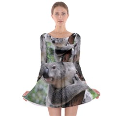 Koala Long Sleeve Skater Dress by AnjaniArt