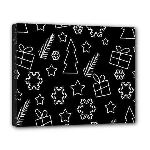 Simple Xmas Pattern Deluxe Canvas 20  X 16   by Valentinaart