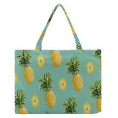 Pineapple Medium Zipper Tote Bag by AnjaniArt