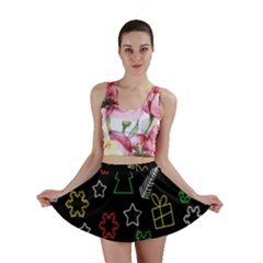 Colorful Xmas Pattern Mini Skirt