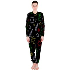 Colorful Xmas Pattern Onepiece Jumpsuit (ladies)