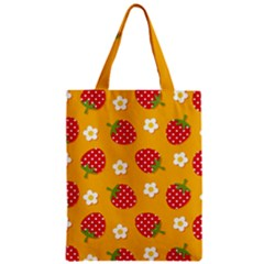 Strawberry Zipper Classic Tote Bag by AnjaniArt