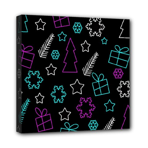 Creative Xmas Pattern Mini Canvas 8  X 8  by Valentinaart