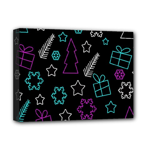 Creative Xmas Pattern Deluxe Canvas 16  X 12   by Valentinaart