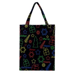 Playful Xmas Pattern Classic Tote Bag by Valentinaart