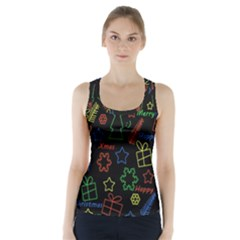 Playful Xmas Pattern Racer Back Sports Top by Valentinaart