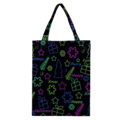 Decorative Xmas Pattern Classic Tote Bag by Valentinaart