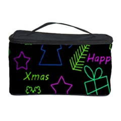 Decorative Xmas Pattern Cosmetic Storage Case by Valentinaart